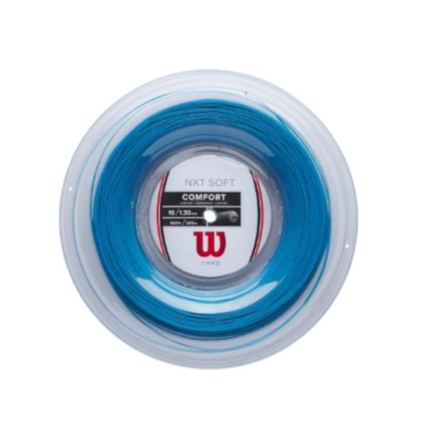 送料無料◆Wilson◆硬式テニスストリング NXT SOFT 16 BLUE REEL WR830520216 ウィルソン ロールガット