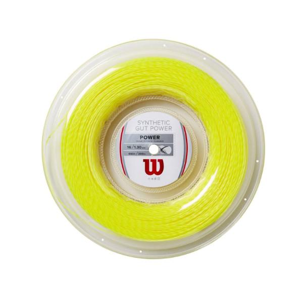 送料無料◆Wilson◆硬式テニスストリング SYNTHETIC GUT POWER 16 REEL WR830140416 ウィルソン ロールガット