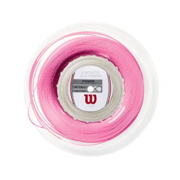 送料無料◆2019年発売◆Wilson◆硬式テニスストリング SYNTHETIC GUT POWER 16 PINK REEL WRZ905800 ウィルソン ロールガット