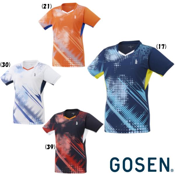 テニス バドミントン ウエア ついに再販開始 ゴーセン GOSEN ゲームシャツ お金を節約 レディース 2021年6月発売 T2145