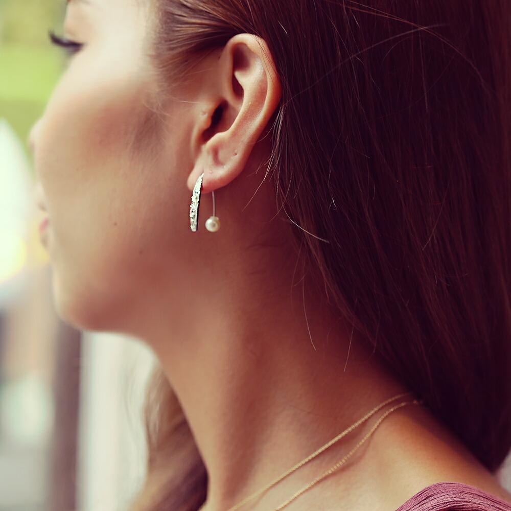 Silver925 サーフボード ピアス ショート ハワイアンジュエリー ハワジュ Hawaiian jewelry Puaally プアアリ 手彫り ショートボード SV シルバー ペア サーフィン サーフ レディース 女性 プレゼント 楽ギフ 包装E9HID2W