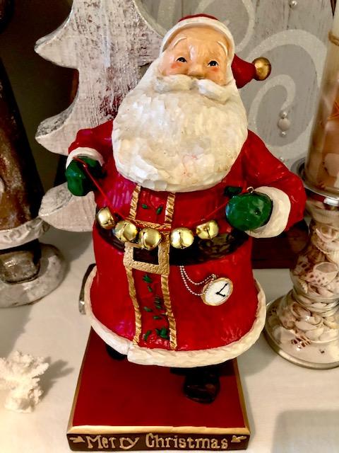 【SOHA】クリスマス オーナメント サンタ 木製 インテリア 海外品 輸入雑貨 飾り すず サンタクロース 赤 グリーン 長靴 木 時計 ひげ 手袋 帽子 置き物 hawaii ハワイアン雑貨