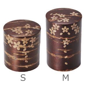 総皮茶筒 桜