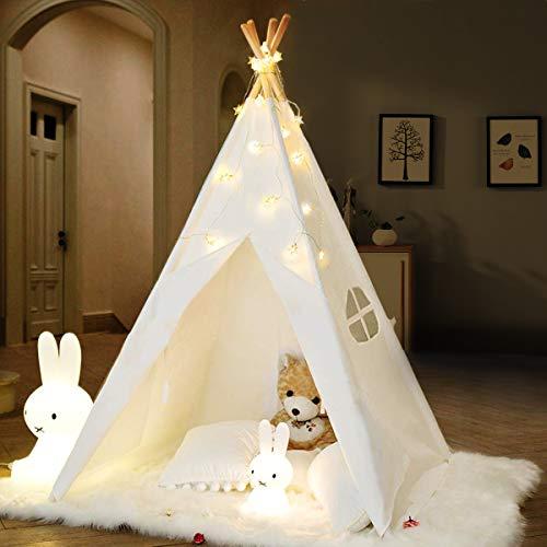 IREENUO キッズテント テントハウス 子供テント インディアンテント 秘密基地 信用 知育玩具 美品 睡眠テント kids tent 収納バッ 子供用テント