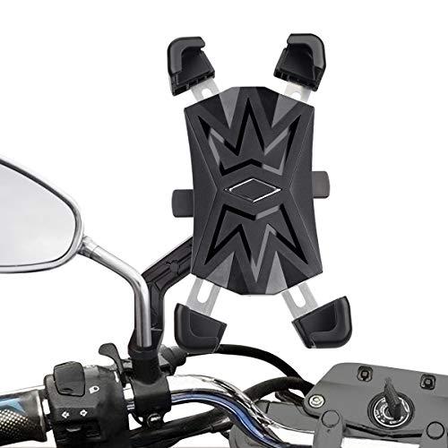 バイク 超歓迎された スマホ ホルダー 自転車用 携帯ホルダー 2020最新改良 スマホホルダー 360°回転可能 自動ロック 落下防止 片手操作 オンラインショッピング 振れ止め