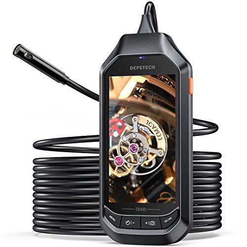 HDデジタル お気に入り 内視鏡 デュアルレンズ 1080P 検査カメラ 工業用内視鏡 超薄型レンジ 4.5インチIPSスクリーン�き 8MM �水検査カメラ 6 本日の目玉