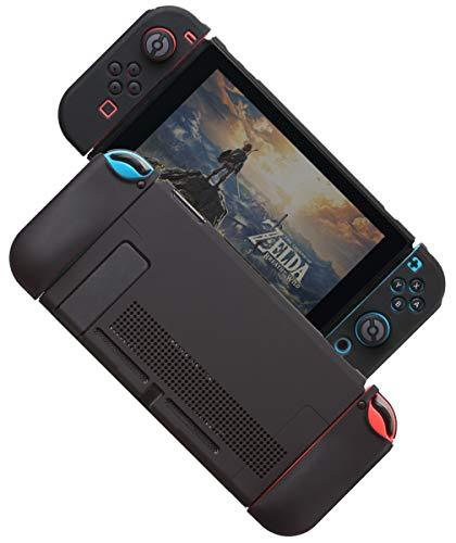 Nintendo Switch カバー switch 希少 最安値に挑戦 分体式 対応 カバーラウンドなシリコーン保護カバー 黒 任天堂スイッチ アクセサリ
