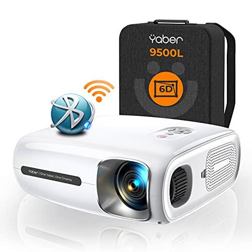 YABER Pro V7プロジェクター 9500lm 5.0GWiFi Bluetooth5.1 リアル1980*1080P HD 4K対応 6D自動台形補正 高解像度ズーム機能 300イン