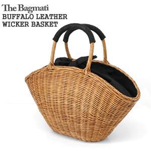 【クーポンで30%OFF】バグマティ/The Bagmati ウィッカー編み牛革かごバッグ 扇型 巾着 ハンドバッグ BUFFALO LEATHER WICKER BASKET BAG BBK17-06【コンビニ受取可能】