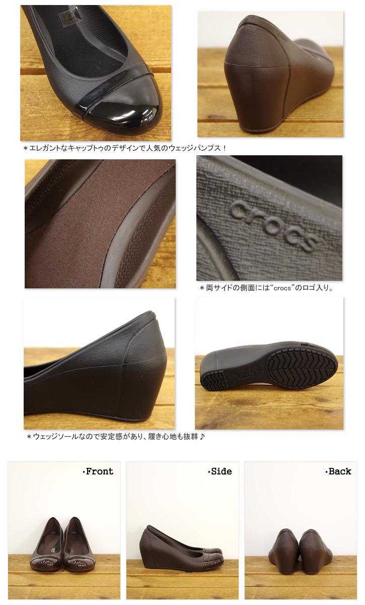 527d66e9f95 Clocks  CROCS cap toe wedge rubber shoes wedge pumps CAP TOE WEDGE   impossibility