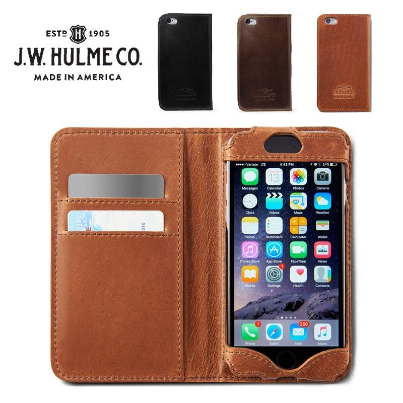 J.W.HULME(ジェイダブルホルム) アメリカ製 レザー iPhone6ケース 手帳型 本革iPhone6カバー 618