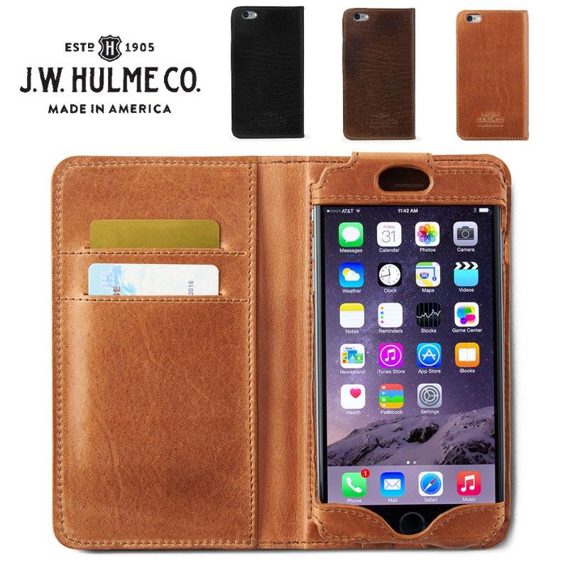 J.W.HULME(ジェイダブルホルム) アメリカ製 レザー iPhone6 Plusケース 手帳型 本革iPhone6+カバー 618
