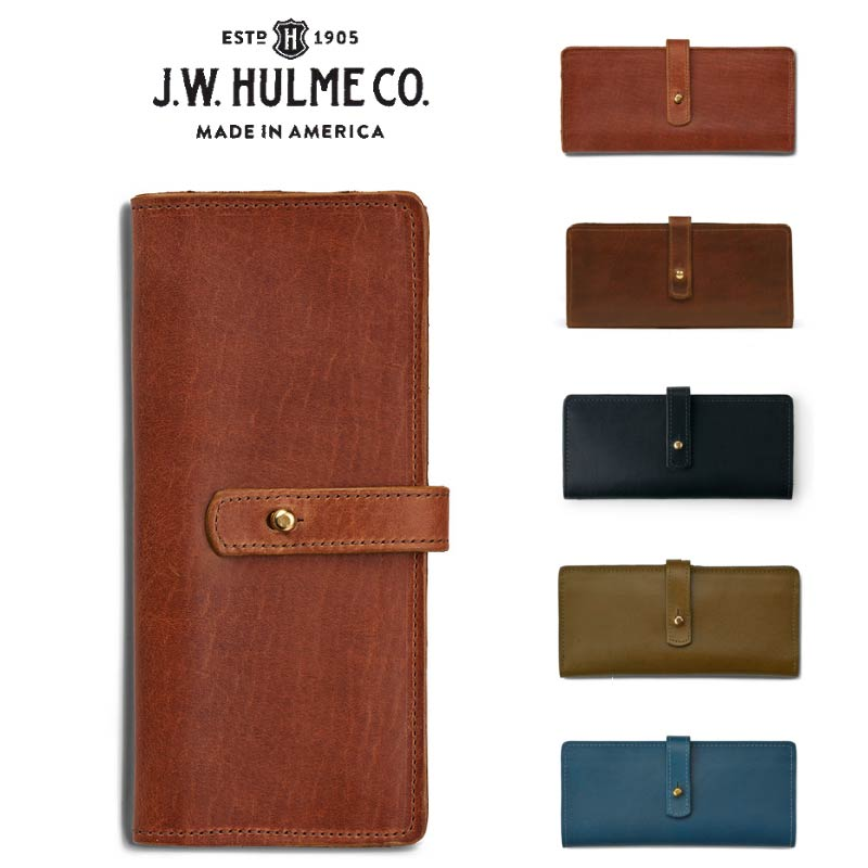 J.W.HULME(ジェイダブルホルム) アメリカ製 レザーウォレット 長財布LINWOOD LARGE WALLET