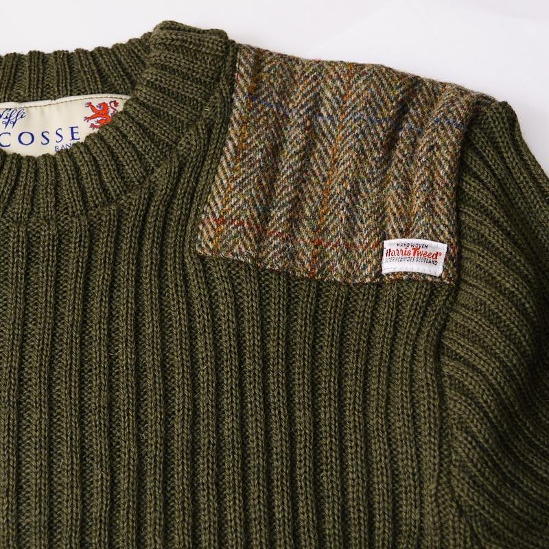 Harris Tweed/ハリスツイード イギリス製セーター NATO軍タイプ クルーネックコマンドセーター[MADE IN BRITAIN]ミリタリーセーター