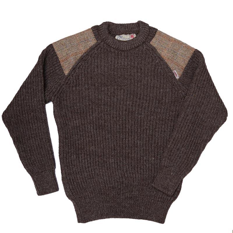 Harris Tweed/ハリスツイード ローゲージ セーター イギリス製 クルーネック パークレインジャーセーター[MADE IN BRITAIN][41120]