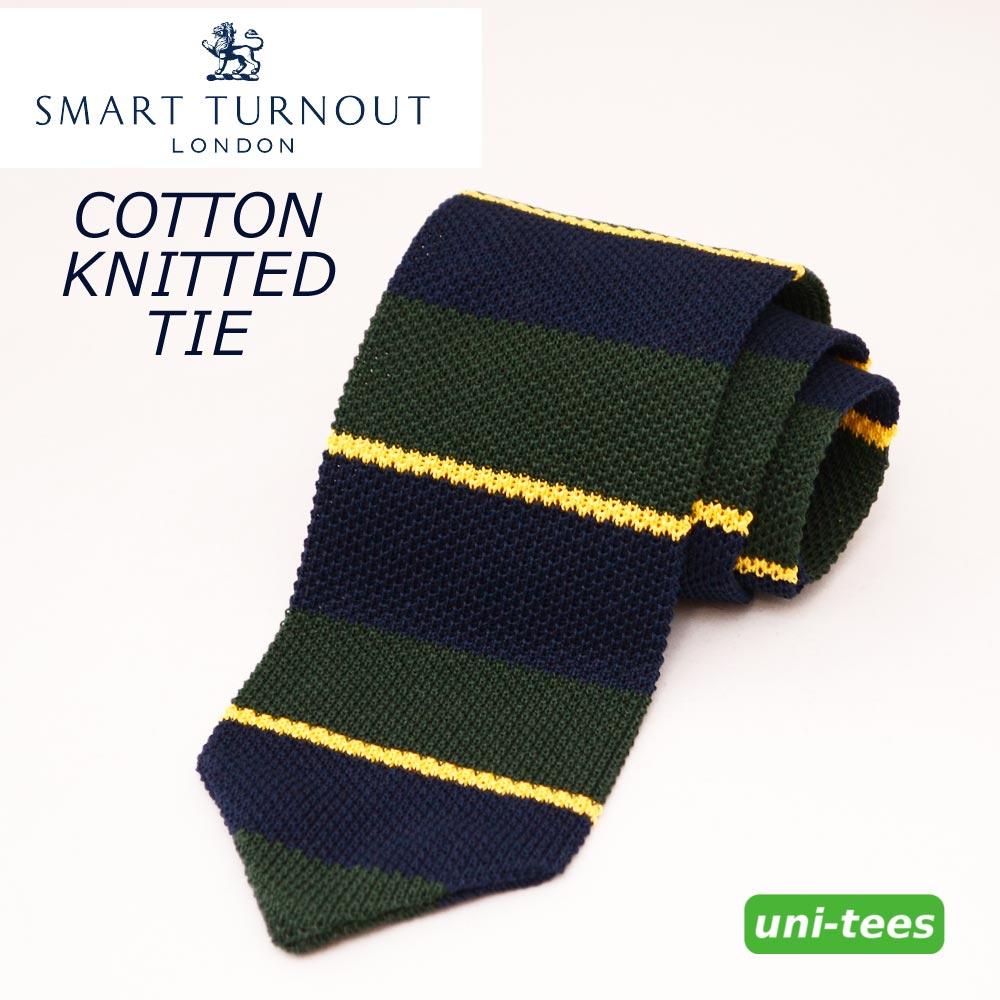 イタリア製コットンニットタイ SMART TURNOUT[Old Stratfordian] スマートターンアウト