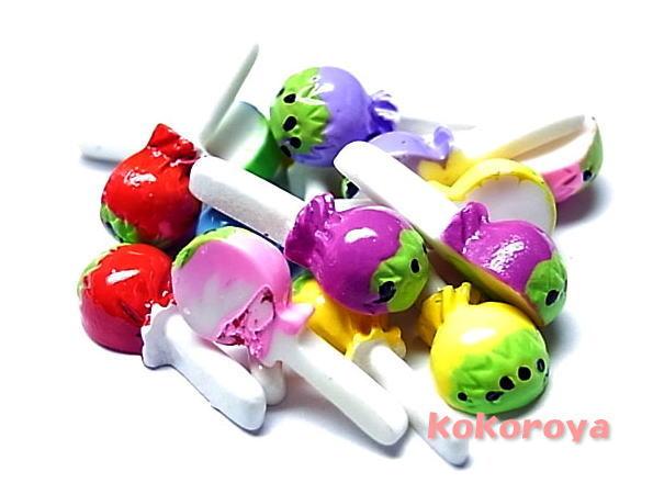 プラスティックキャンディー 返品不可 お気にいる 3個 ☆クリックポストOK☆ 16mm×6mm