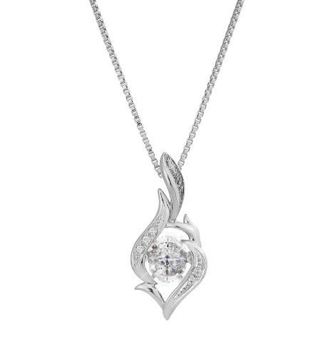 ネックレス ダイヤモンド シンプル 金属アレルギー レディース【ダンシングストーン ネックレス】【送料無料】中央の石だけが揺れて、胸元にきらめきを与えます。 mate