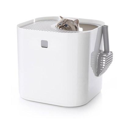 猫用トイレ 猫トイレ 上から おしゃれ インテリア 送料無料 【Modkat Litter Box モデキャット リターボックス】【送料無料】天井から出入りするタイプのシンプルでモダンなデザインの猫用トイレ!ペット用品 mate