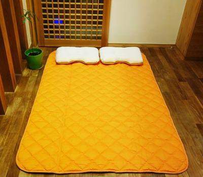 gaiga 地磁気パッド ベッドパッド パッド コットン 電磁波 安眠 シーツ 遠赤外線 送料無料【丸山式地磁気パッドガイアコットン ダブルサイズ】【送料無料】心地よい眠りをサポートする丸山式の敷きパッドです。 mate