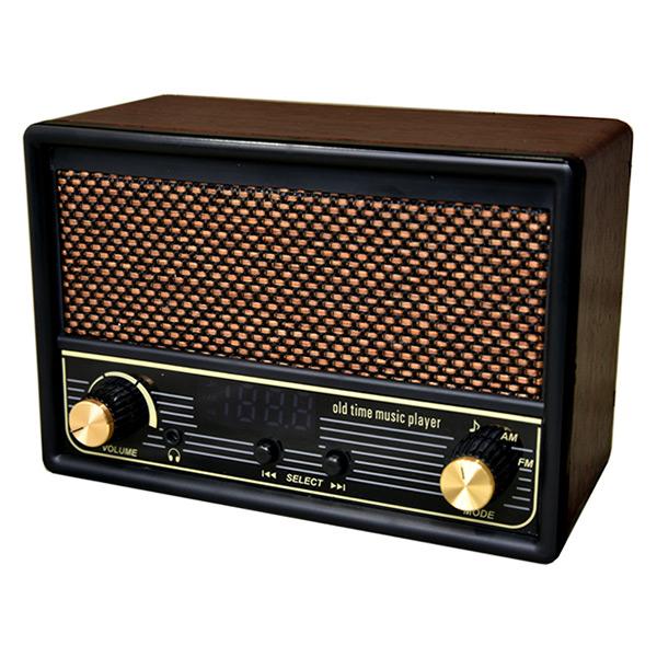 ラジオ 防災 レトロ 音楽プレイヤー AM FMラジオ機能【唱歌ラヂオ DX100】【送料無料】懐かしの唱歌や童謡を100曲収録した再生プレーヤー mate