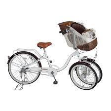 三輪自転車 前二輪 送料無料 2人乗り 【Bambina バンビーナ フロントチャイルドシート付 三輪自転車】【送料無料】3輪だから、子供が二人乗っても安心感のある自転車! mimu