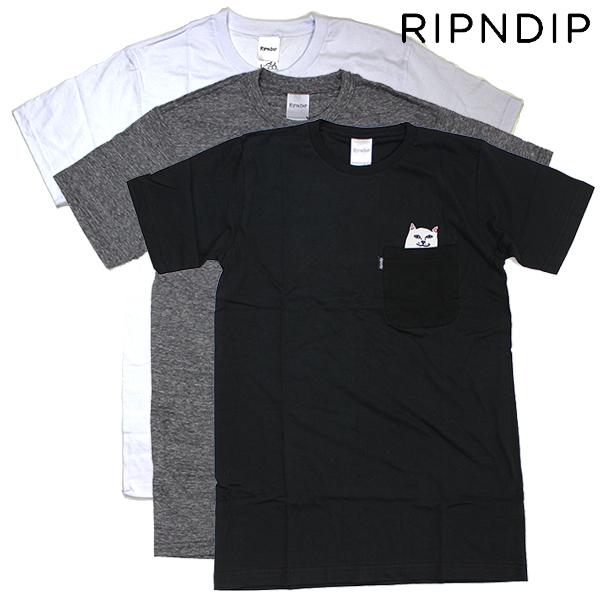 スケート スケートボード Tシャツ 猫Tシャツ RIPNDIP リップンディップ Lord ネコT 2020A W新作送料無料 Pocket Nermal 新生活 Tee