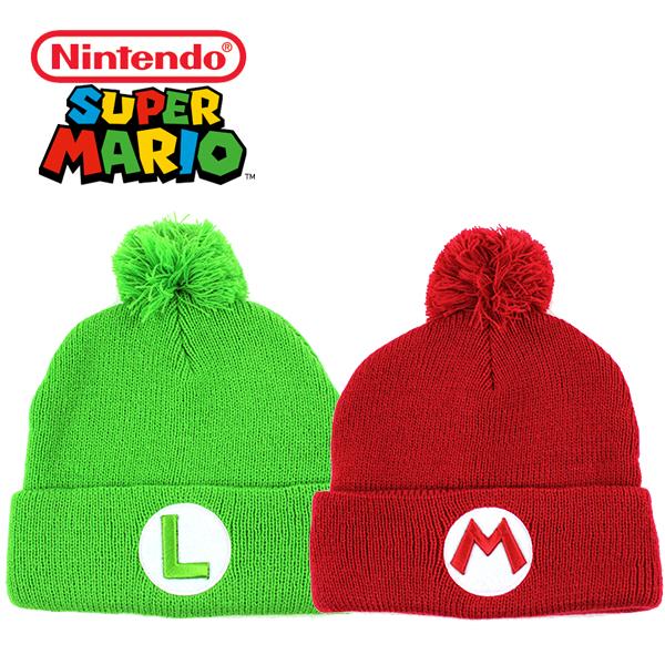 スーパーマリオのニット帽はフリーサイズ男女兼用です ニンテンドウ 希少 スーパーマリオ ニット帽 ニットキャップ Nintendo Super Mario マリオ ルイージ 帽子 レディース 大注目 メンズ フリーサイズ キャップ