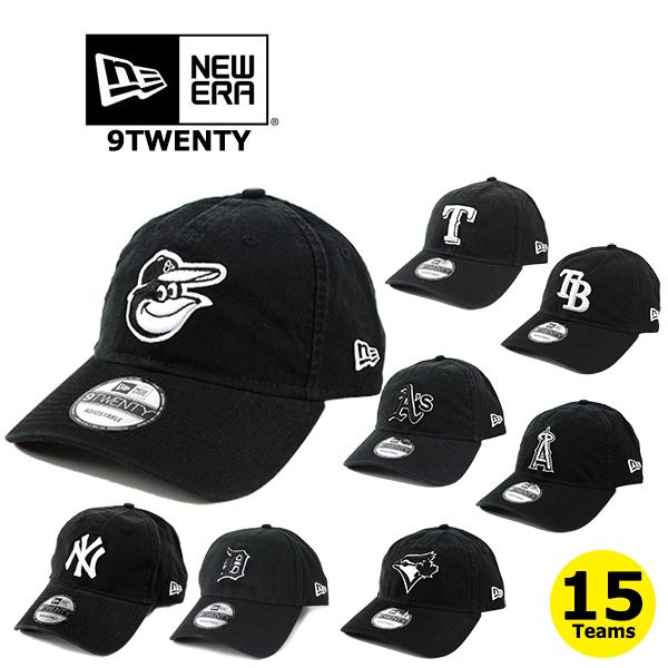 NEW ERAの大人気MLBローキャップはフリーサイズ メンズ レディースOK ニューエラ キャップ 9TWENTY MLB アメリカンリーグ BLACKWHITE ERA ホワイトソックス レンジャーズ 帽子 テレビで話題 公式ストア アスレチックス ヤンキース タイガース レッドソックス オリオールズ エンゼルス インディアンズ マリナーズ