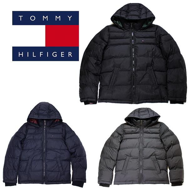 トミー ヒルフィガー ジャケット クラシック ナイロン フード 中綿 ジャケット TOMMY HILFIGER (ブラック/ネイビー/グレー/ブルゾン/送料無料)