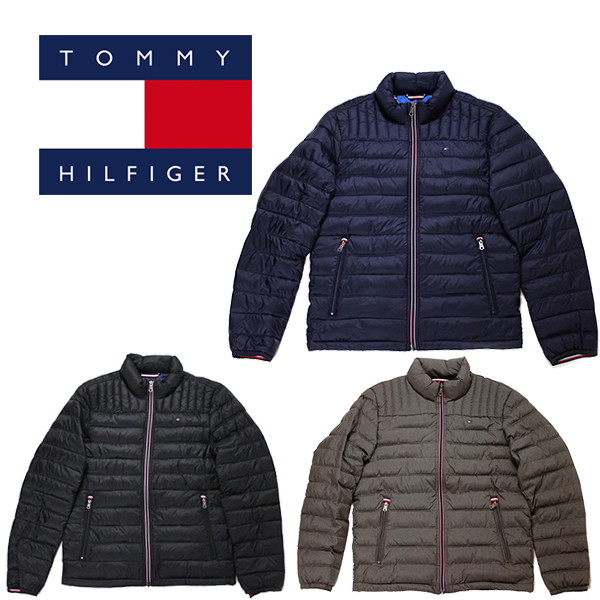 トミー ヒルフィガー ジャケット 中綿 ナイロンキルト パッカブル ジャケット TOMMY HILFIGER (ブラック/ネイビー/グレー/軽量/ブルゾン/送料無料)