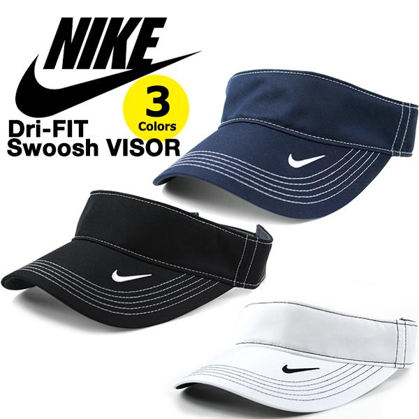 NIKEの定番サンバイザー メンズ レディースOK ナイキ 現金特価 サンバイザー Dri-FIT NIKE Swoosh VISOR ブラック ネイビー ストラップバックキャップ ランニング ホワイト 帽子 レディース ゴルフ 日よけ テニス フリーサイズ 大決算セール