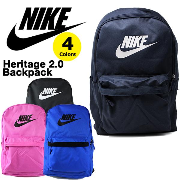 NIKEの定番バックパック メンズ レディースOK ナイキ リュック バックパック NIKE Heritage 2.0 Backpack レディース ブラック バッグ カバン 年中無休 ゴルフ ネイビー テニス ピンク ブルー ランニング 開店祝い