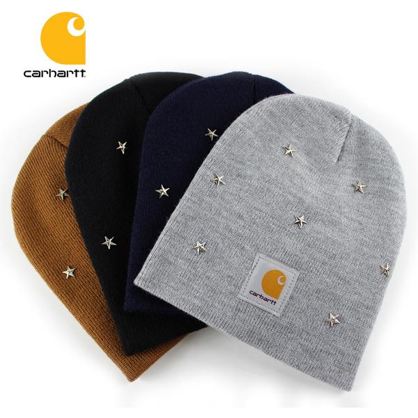 メール便対応 カーハート ニット帽 品質検査済 ニットキャップ 星スタッズ CARHARTT ブラック レディース ブラウン メンズ ネイビー キャップ グレー 物品