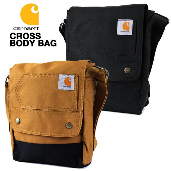 卓抜 新商品!新型 小物を収納するのに便利なカーハートの斜めがけボディバッグ メンズ レディースOK カーハート ボディバッグ CARHARTT LEGACY CROSS BODY 鞄 送料無料 サコッシュ バッグ BAG ブラック カバン ブラウン