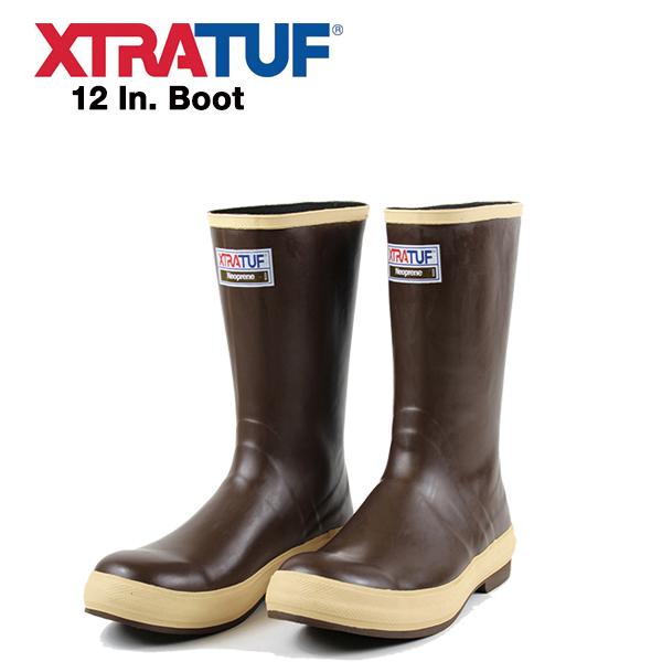 XTRATUF (エクストラタフ) レインブーツ Legacy ハーフ丈 12インチ 送料無料 (ブラウン/長靴/ラバーブーツ/ブーツ/キャンプ/アウトドア/ガーデニング/雨/雪)