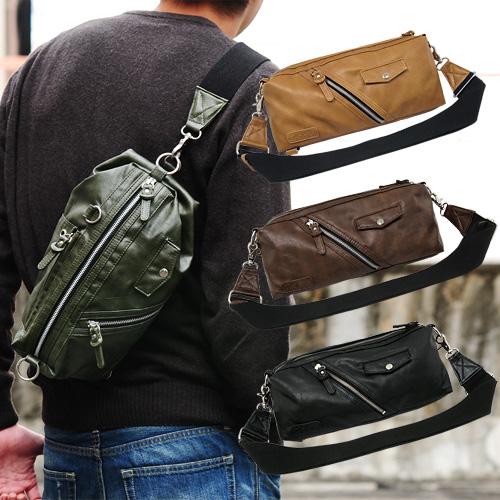 ショルダーバッグ 斜めがけボディバッグ 2way 財布、携帯、ペットボトル等が入る程よいサイズ感 左右どちらの肩にも背負えるようにチェンジ可能 キーチェーンなどをつなげるのに最適なDカンも装備 bag-sho-73rt