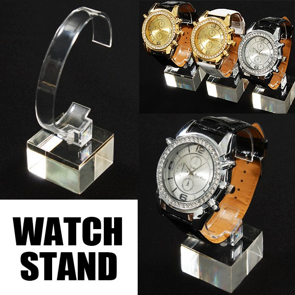 It is popular in convenience! And plastic watches stand clock display fixtures, store, shop, home, and enamored beautiful watch entirely clear to sale, exhibition, will only stand features 1943377-AC-ST-CPD