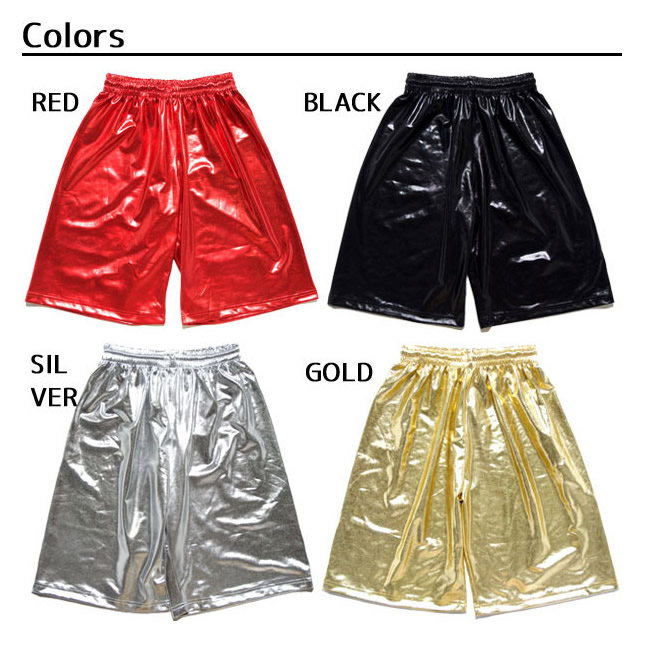 Point 5 x metallic shorts Lunn dance costume basketball pants lessons wearing school Festival culture Festival event Hara-Juku series blue character system 4534154-HK-17382