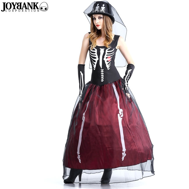 skeleton lady dress skeleton skull costume cosplay costumes pirate halloween halloween fancy dress party cabaret parties cavalier costume nightdresses sexy