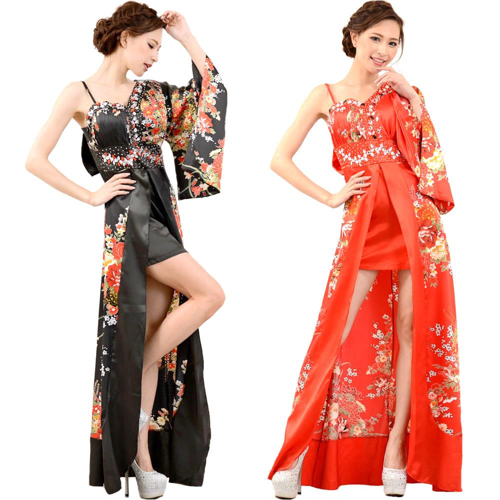 2f2b2d456657 Kimono dress bureau disguise sexy clothes high-class prostitute kimono  5986487-0106B of the kimono long dress shoulder flower print high-class  prostitute ...