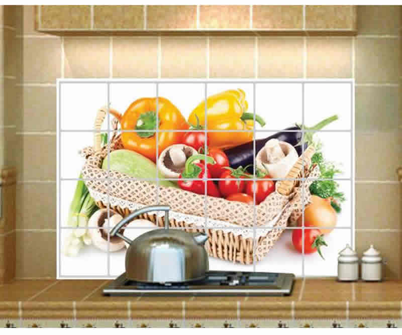 Stand the peel-off sheet, kitchen wall sheet, aluminum kitchen wallpaper, high-temperature, oil stains around the stove / oil stains whilst cleaning l kitchen aluminum sheet (vegetable box)