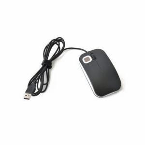 【納期約1~2週間】エコデバイス EMUC18-5BWB 指紋認証マウス「Beetle」 ブラック×ホワイト EMUC185BWB