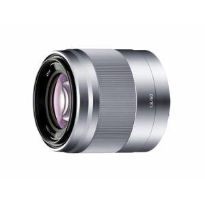"""【納期約4週間】【お一人様1台限り】SEL50F18(S)シルバー[SONY ソニー] デジタル一眼カメラ""""α""""[Eマウント]用レンズ E 50mm F1.8 OSS"""