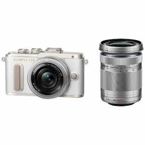 【納期約7~10日】【お一人様1台限り】Olympus オリンパス EPL8-WKIT-WHT ミラーレスデジタル一眼カメラ「PEN E-PL8」EZダブルズームキット ホワイト EPL8 WKIT WHT
