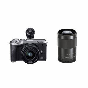【納期約2週間】◎canon キヤノン EOSM6MK2EVF WZKSL ミラーレスカメラ EOS M6 Mark II (シルバー)・ダブルズームEVFキット