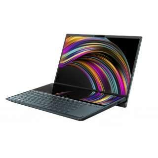 【納期約7~10日】【お一人様1台限り】【代引き不可】UX481FL-HJ118T ASUS エイスース 14型ノートPC ZenBook Duo セレスティアブルー UX481FLHJ118T
