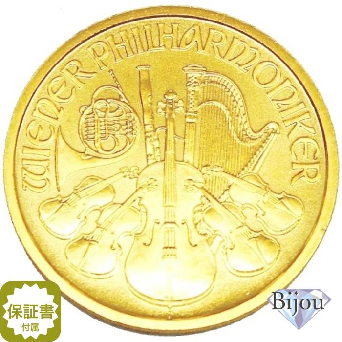 オーストリア ウィーン金貨 1/2オンス 1/2oz コイン 純金 (99.99%) K24 24金 15.55g 中古美品