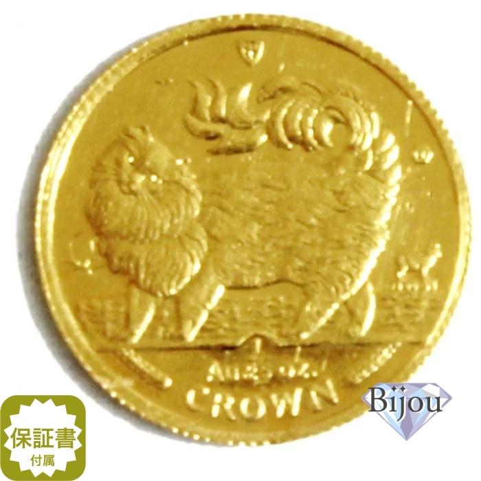 K24 マン島 キャット金貨 コイン 1/25oz 1.24g 1993年 招き猫 純金