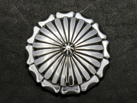 高級シルバーコンチョ コンチョ シルバー 銀 concho 925 正規取扱店 5%OFF 37mm ライダースウォレット 送料無料 メンズ バイカー 革 ハンドメイド 高級